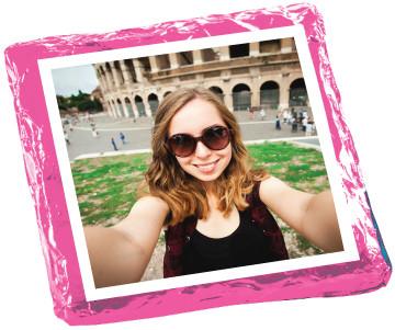 Selfie Chocolate Graham Cookie - Pink