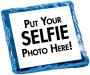 Selfie Chocolate Graham Cookie - Blue Sample