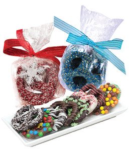 CHRISTMAS / HOLIDAY PRETZEL FAVOR BAG