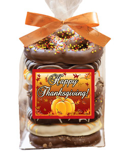 Thanksgiving 8pc Gourmet Pretzel Bag
