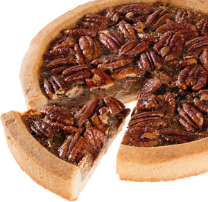 Barbara's Hand Made Pecan Cookie Pie - Cut