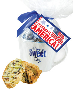 Celebrate America Mug - Biscotti w/America Hang Tag