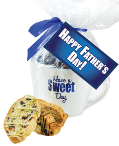 FATHERS DAY MUG WITH BISCOTTIS W/ FATHER'S DAY HANGTAG