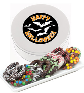 Halloween Gourmet Pretzel Assortment Tin