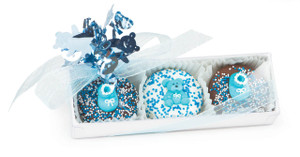 Baby Boy Decorative Chocolate Oreos 3 Pc Box