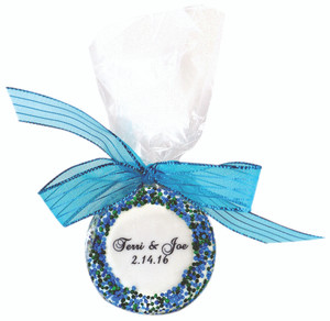 WEDDING CUSTOM PRINTED CHOCOLATE OREO 1 PC BAG W/ RIBBON
