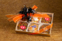 Chocolate enrobed Oreos with Halloween  sugar art embellishments.