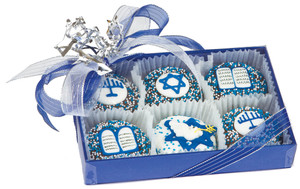 Hanukkah Decorated Chocolate Oreo 6pc Box