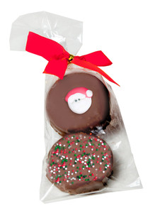 Christmas Decorated Chocolate Oreo with Sugar Art - Bagged
