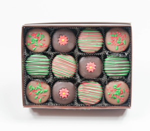 Christmas Decorated 12pc Chocolate Oreo Gift Box