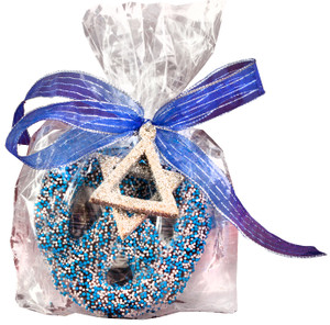 HANUKKAH CHOCOLATE PRETZEL FAVOR BAG