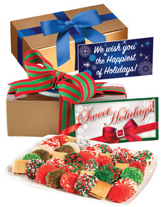 Christmas/Holiday Decorated Cookie Sampler - Boxed