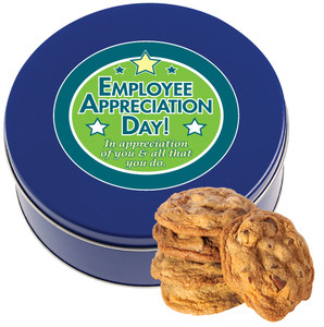 Employee Appreciation Chocolate Chip Butter Cookie Tin
