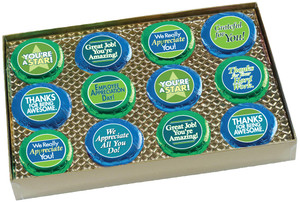 "EMPLOYEE APPRECIATION ""COOKIE TALK"" CHOCOLATE OREO GIFT BOX - 12 Pc."