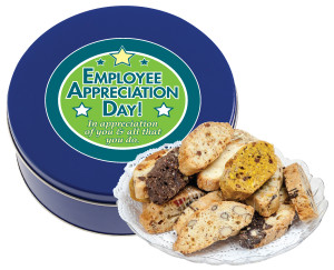 Employee Appreciation Biscotti Tin