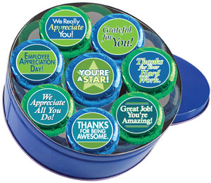 Employee Appreciation Cookie Talk 16pc Chocolate Oreo Tin