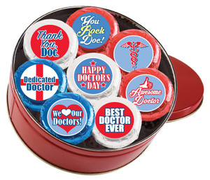 Doctor Appreciation Cookie Talk 16pc Chocolate Oreo Tin
