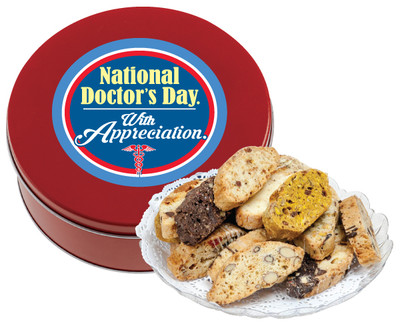 Doctor Appreciation 1lb Biscotti Tin