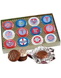 "DOCTOR APPRECIATION ""COOKIE TALK"" CHOCOLATE OREO  GIFT BOX w/ MESSAGES"