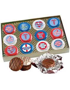 Doctor Appreciation Cookie Talk 12pc Chocolate Oreo Box