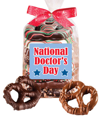 Doctor Appreciation 8pc Chocolate Pretzel Bag