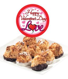 Valentine's Day Jumbo Coconut Macaroons - Traditional