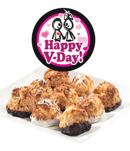 HAPPY VALENTINES DAY JUMBO COCONUT MACAROONS