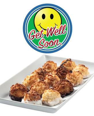 Get Well Smiley Face Mini Coconut Macaroons