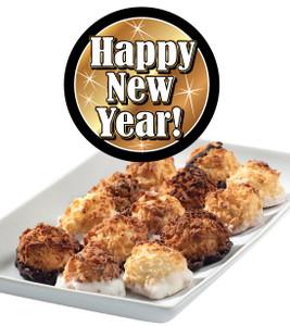 Happy New Year Mini Coconut Macaroons