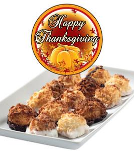 Thanksgiving Mini Coconut Macaroons