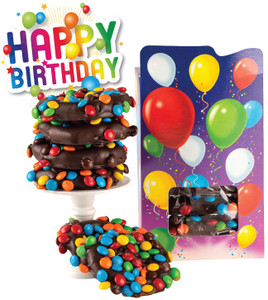 Happy Birthday Chocolate Pretzel Novelty Box