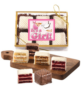 Baby Girl Petit Fours - 6pc Box