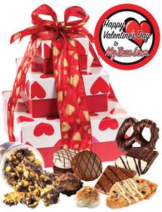 Valentine's Day Heart 3 Tier Tower of Treats - True Love
