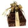 Cheerful & Happy 3 Tier Tower of Treats - Brown & Gold