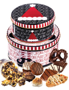 Christmas Two-Tiered Gift Tin - Assortment