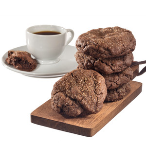 Chocolate Chocolate Chip Cookie Scones with Coffee