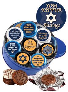 Yom Kippur Cookie Talk Chocolate Oreo 16pc Tin