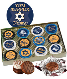 "YOM KIPPUR ""COOKIE TALK"" CHOCOLATE OREO GIFT BOX W/ MESSAGES"
