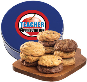 Teacher Appreciation Assorted Cookie Scone Tin