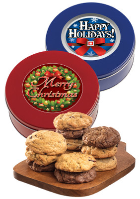 Christmas/Holidays Assorted Cookie Scones - Red or Blue Tin