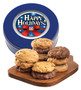 CHolidays Assorted Cookie Scones - Blue Tin