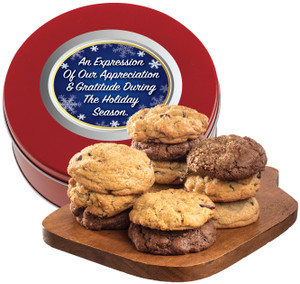 Business-To-Business Happy Holidays Assorted Cookie Scones