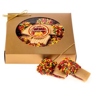 Thanksgiving Raspberry Sandwich Butter Cookie Box