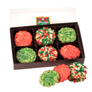 Christmas Butter Cookies 12 Pc Gift Box