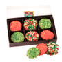 Christmas Butter Cookies 12pc Gift Box - Decorated Oreo cookies