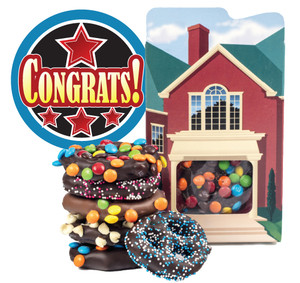CONGRATULATIONS ON YOUR NEW  HOME - CHOCOLATE PRETZEL BOX
