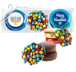 Hanukkah Cookie Talk M&M Chocolate Oreo Trio
