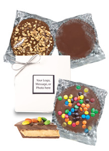 Peanut Butter Chocolate Candy Pies - Boxed