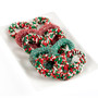 Christmas Gourmet Decorated Pretzels - Hand full