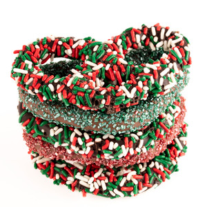 Christmas Gourmet Decorated Pretzels - Quad